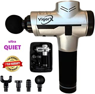 Dr James VigorX Massage Gun, Super Quiet & Powerful, Best Quality & Design at lower price, 3200 RPM motor, 2400 mHa Battery, Fast Treatment of muscle pain, 1 Year Warranty