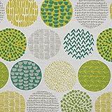 PT Dekostoff Baumwollstoff Casa Cactus Creme Kreise grün