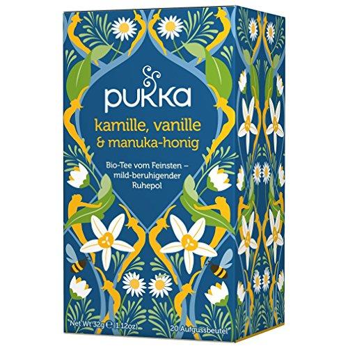 PUKKA Bio Kamille, Vanille & Manuka-Honig Tee, 1er Pack (20 x 1,6 g Teebeutel) - BIO