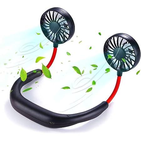 Portable USB Rechargeable Neck Fan Neckband 360 Degree Mini Fan Style