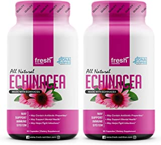Echinacea - (2 Pack) Strongest DNA Verified - Healthy Immune System, Physical & Mental Health, Potent Strength for Winter ...