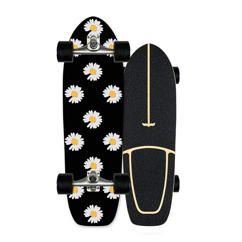 チャンスチューブ硬さコンプリートスケートボード、サーフィンランドスケートボード初心者練習会旅行ビッグフィッシュボード78センチメートル* 25センチメートル (Color : A)