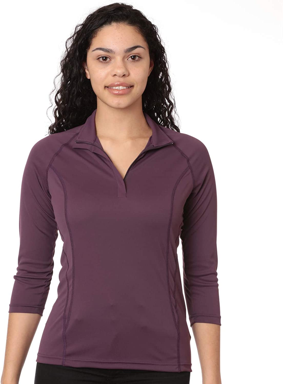 UPF 50 Nozone Sun Protective Equestrian 3//4 Sleeve Tuscany Shirt for Women