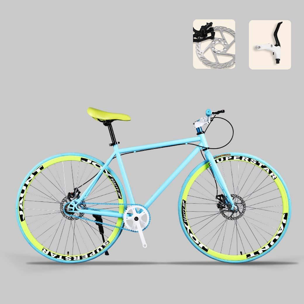 lqgpsx Bicicleta de Carretera, Bicicletas de 26 Pulgadas, Freno de Doble Disco, Cuadro de Acero de Alto Carbono, Carreras de Bicicletas de Carretera, Hombres y Mujeres Adultos: Amazon.es: Deportes y aire libre