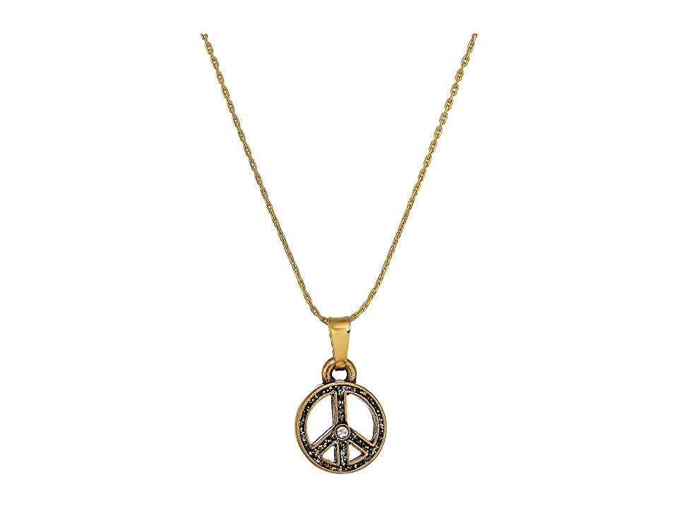 Image of Alex and Ani 28'' Charity By Design, Unicef Peace Necklace (Gold) Necklace