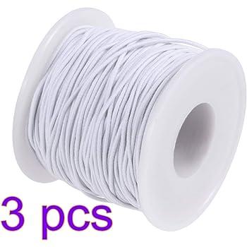 Cordoncino elastico elastico in gomma per fai da te facciale bocca maschera artigianale gioielli collana braccialetto intrecciato 0.8mm*100m Caff Poliestere e lattice.