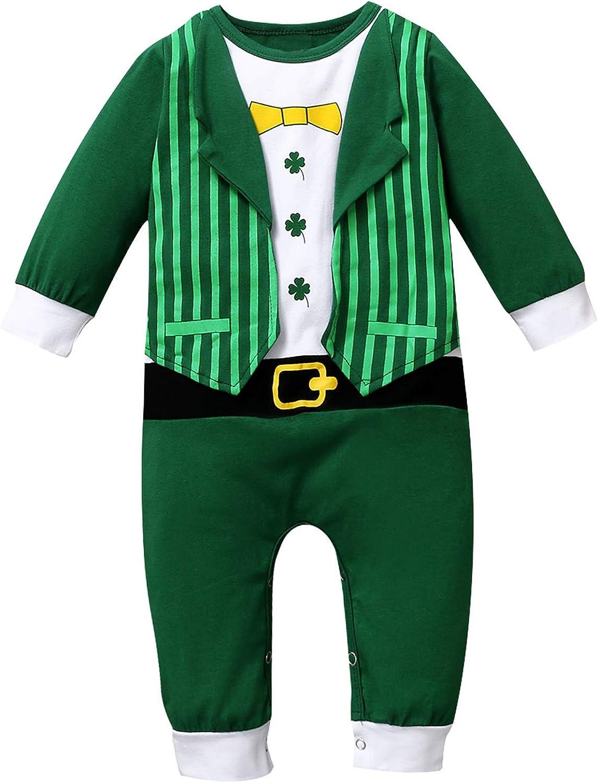 St.Patrick's Day Baby Boys Girls Shamrock Clover High quality Bodysuit At the price Infant