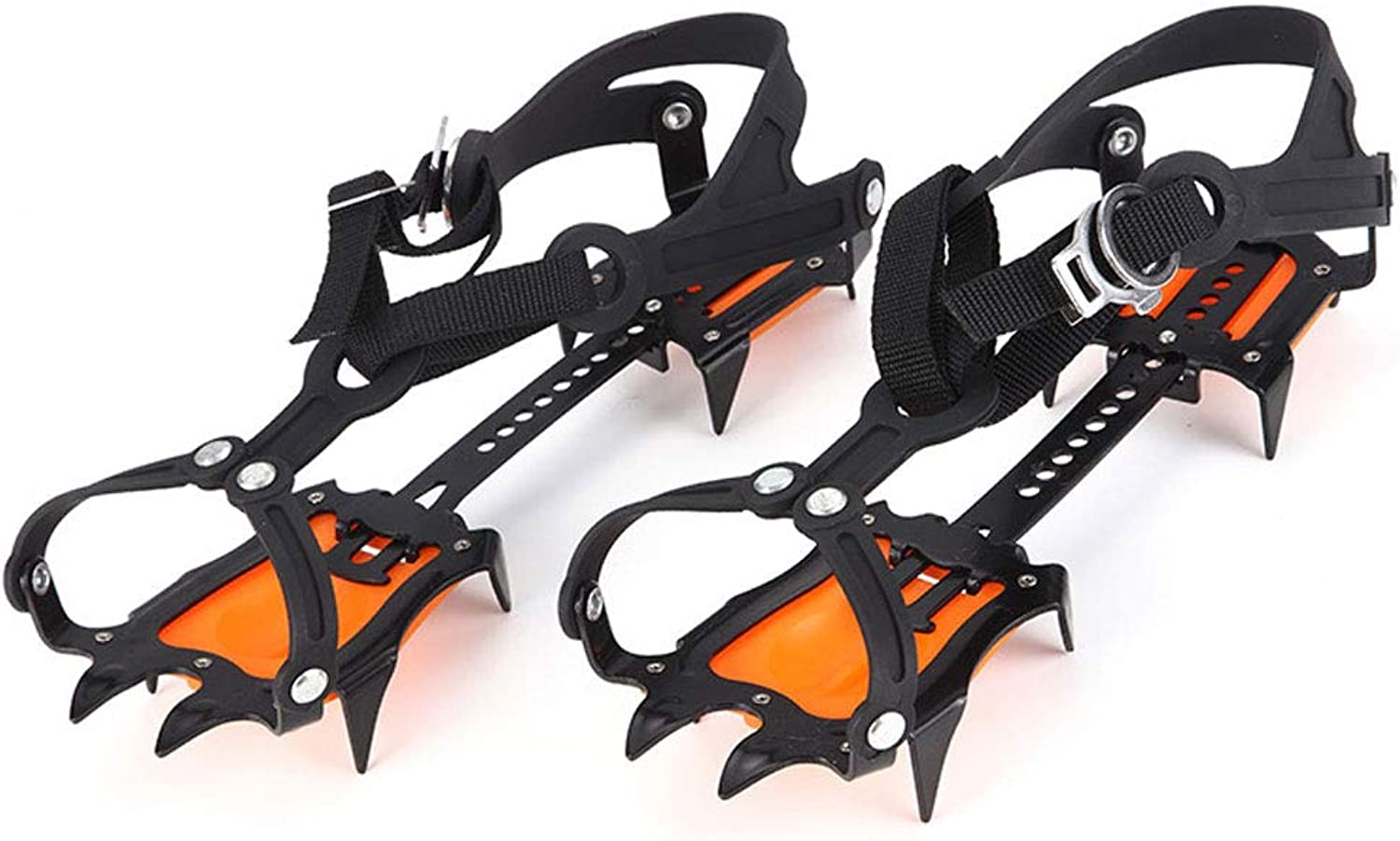 Crampons Outdoor Professional Ice Climbing AntiSkid shoes Covers Climbing Snow Claws AntiSkid Ice Caught 10 Teeth Manganese Steel Crampons
