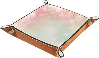 Boîte de rangement de bureau en cuir PU pliable boîte de rangement en dés pour jeux de table beau printemps