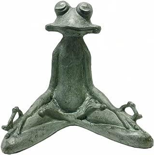 SPI Home 50793 Contented Yoga Frog Garden Sculpture