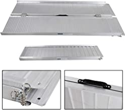 Aluminum Wheelchair Ramp 5'Ft Briefcase Fold Utility Loading Ramp for Wheelchairs Scooters Mobility