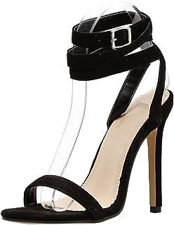 9def89115de99b Scarpe col Tacco — Elegante Moda Vintage Sexy Tacchi Alti con Fibbia della  Cintura Sandali Estivi