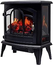 YLJYJ Chimenea calefactora de Estufa eléctrica Calefacción eléctrica de Estufa Independiente con Control de termostato Ajustable con Efecto de Llama Realista 1400W