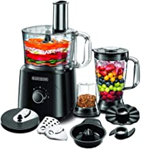 Black+Decker 750W 5-in-1 34 Function Food Processor, Black - FX775-B5, 2 Years Warranty