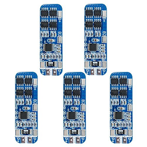 Diymore 5pcs 3S BMS Module 12V 10A 18650 BMS Charger Module Li-ion Lithium Battery Protection Board