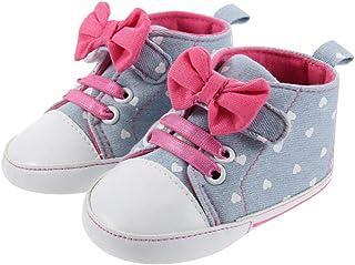 DEBAIJIA Ragazza Scarpe Slip-on Sneakers Traspirante Leggero Banda Elastica Scarpe Primi Passi Adatto per Bambini da 6-18 ...