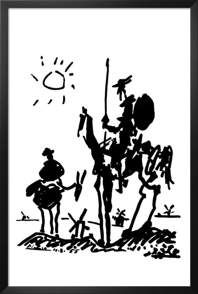 Framed Don Quixote by Pablo Al sold out. Finally popular brand Picasso Famou 36x24 Poster Art Print