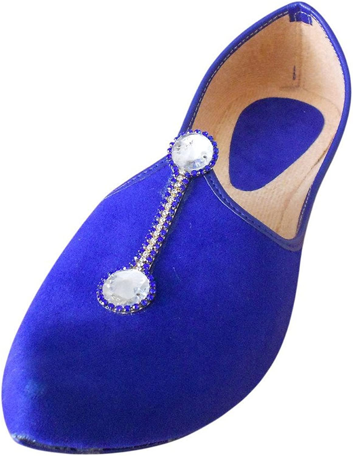 Kalra Creations Men's Traditional Velvet Indian Designer shoes