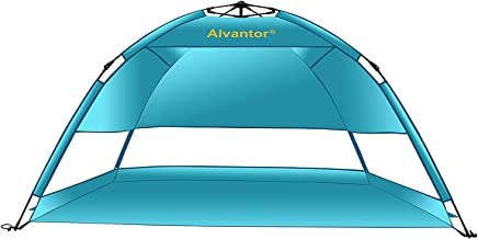 Alvantor Beach Tent Umbrella Outdoor Sun Shelter Cabana Automatic Pop Up UPF 50+ Sun Shade Portable Camping Hiking Canopy Easy Setup Windproof Patent Pending 3 or 4 Person