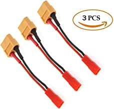 FLY RC 3pcs RC XT60 Female to JST Female Charging Adapter Lead For RC Plane RC Car RC Helicopter
