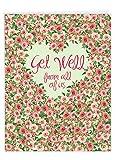 NobleWorks - Big Funny Group Get Well Card (8.5 x 11 Inch) - Jumbo Feel Better Soon from All of Us, Hospital, Sick - Heartfelt Thanks J6578HGWG-US