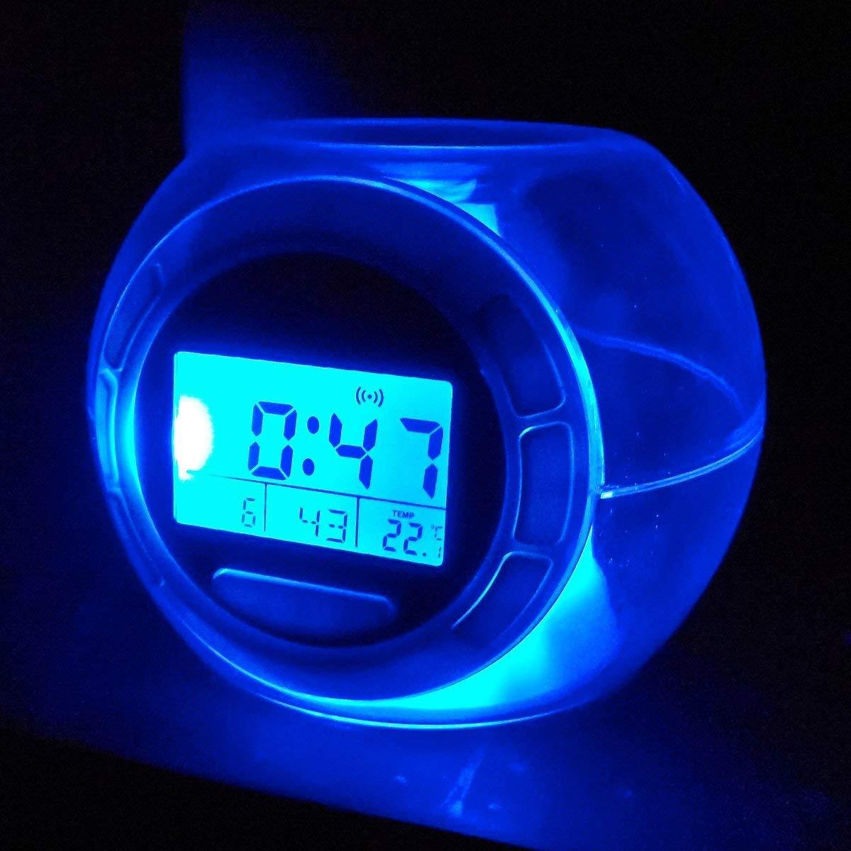 Jocca 1164 Reloj Despertador con Sonidos Naturales y Luz, Blanco ...