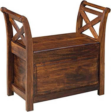 Signature Design by Ashley T800-112 Accent Bench, Warm Brown