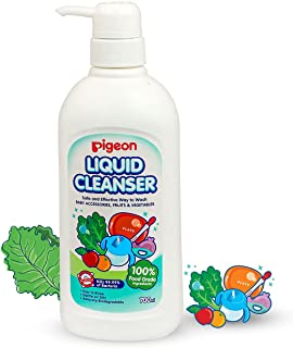 Pigeon Biodegradable Liquid Cleanser to Wash Baby Bottles, Teats, Accessories, Fruits & Vegetables, 700ml