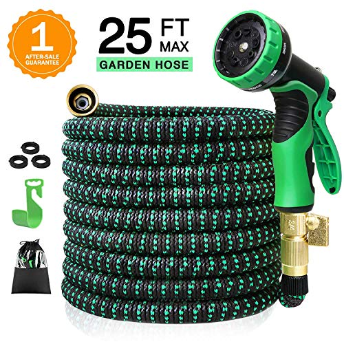 Colrasn 25ft Expandable Garden Hose, Durable Flexible Water Hose, 9...