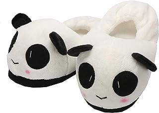 chuangminghangqi Chaussons Panda en Peluche Chaussures Animeaux Adult Unisexe Chaude Hiver Pantoufles Chaussures d'Intérieur