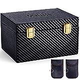 MOSFiATA caja de bloqueo de señal de coche y bolsa (2 paquetes), caja grande Faraday para llaves de coche, bloqueo de llaves de coche, caja de seguridad, antirrobo y bolsas