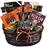 Gift Basket Village King Of The Grill - Grilling Gift Basket For Men With Rubs, Recipes, Beer Can Chicken Roaster, Sauces, 9 lb
