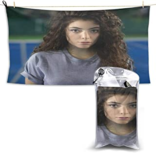 DonaldKAlford Lorde Tennis Court EP Sports,Travel,Camping Towel,Quick Drying,Super Absorbent,Suitable for Fitness,Camping,Swimming,Hiking,Bath Towels