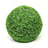 Artificial Plant Topiary Ball 23cm(9Inch),Simulation Plant Grass Ball DIY Home Indoor Yard Party Wedding Garden Decoration Leave Ball Grass Garden Pendant (23cm/9Inch)