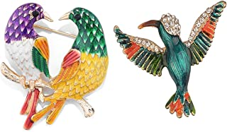 QKAIFRYSUG 2Pcs Jewelry Bird Brooch Collection Custom Accessories Wedding Brooches Pin Jewelry Gifts Women Teen Girls