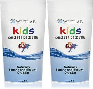 Westlab's Dead Sea Bathing Salt for Kids! (2 Pack) Perfect for Bedtime