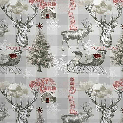 Juego de pegatinas decorativas para azulejos, diseño de reno de invierno Fabri de 10 x 10 cm, 12 unidades de vinilo impermeable para decoración del hogar