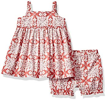 Reyn Spooner Girls  Toddler Christmas Quilt Dress and Bloomers Set Christmas Quilt - Red 6M/12M