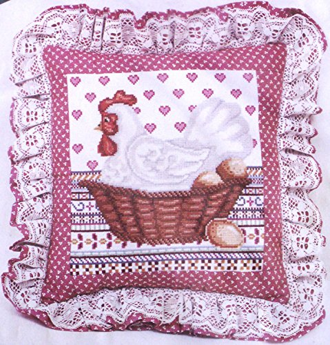 Elsa Williams - 'Henrietta In Cross Stitch' Creative Cross Stitch Pillow Kit