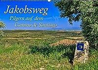 Jakobsweg - pilgern auf dem Camino de Santiago (Wandkalender 2022 DIN A2 quer): Der Jakobsweg - endlos lang und beschwerlich, aber auch ein Weg der Kraft und Zuversicht. (Monatskalender, 14 Seiten )