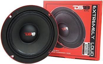 "DS18 PRO-EXL64 Loudspeaker - 6.5"", Midrange, Red Aluminum Bullet, 600W Max, 300W RMS, 4 Ohms, Ferrite Magnet - For the Pep... photo"