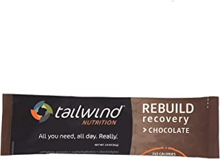 Tailwind Nutrition Chocolate Rebuild Recovery Drink (12 Stick Packs) - Complete Protein, Electrolytes and Carbohydrates - ...
