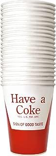 Have a Coke Logo Paper Cups 9 ounce (24 set)