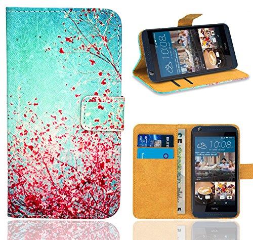HTC Desire 626 626G Handy Tasche, FoneExpert® Wallet Hülle Flip Cover Hüllen Etui Ledertasche Lederhülle Premium Schutzhülle für HTC Desire 626 626G (Pattern 3)