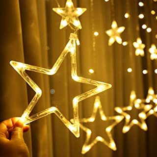 Home Decoration LED Star Lights, Curtain String Lights for Bedroom,8 Lighting Modes,Waterproof Fairy Lights for Bedroom, W...