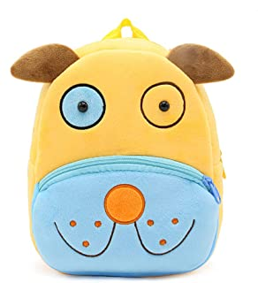 New Toddler's Backpack,Toddler's Mini School Bags Cartoon Cute Animal Plush Backpack for Kids Age 1-4 Years (Dog)