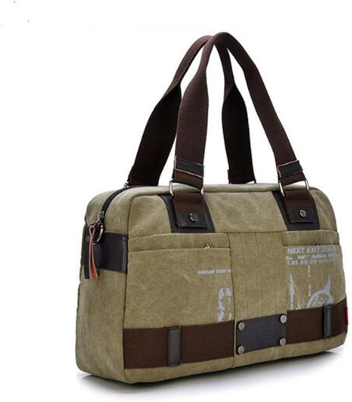 Yzibei Large capacity Canvas Men's Business Package Travel Leisure Single Shoulder Knapsack Handbag