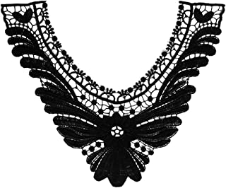 Embroidery Round Neck Laces Fabric Collar DIY Handmade Lace Applique For Sewing Supplies Crafts