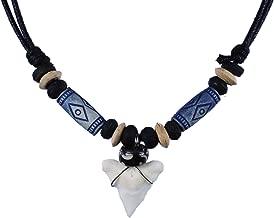 exoticdream Shark Tooth Tribe Beads Necklace Handmade Hawaiian Beach