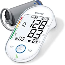 Beurer Upper Arm Blood Pressure Monitor, Blood Pressure Monitor Cuff, Multi-Users & Fully Automatic, Illuminated XL Display, BM55